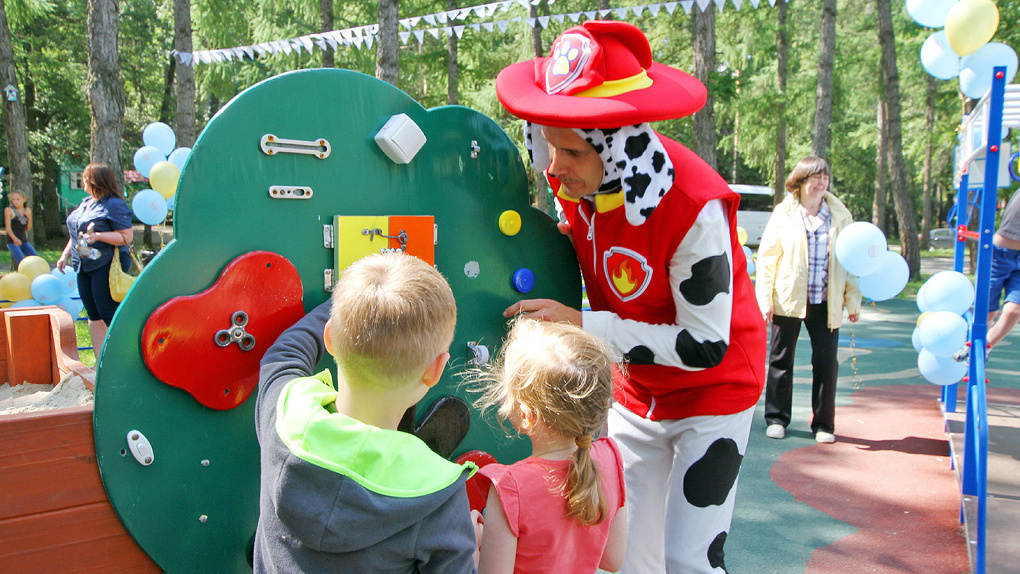 В ЦПКиО открылась первая городская инклюзивная детская площадка