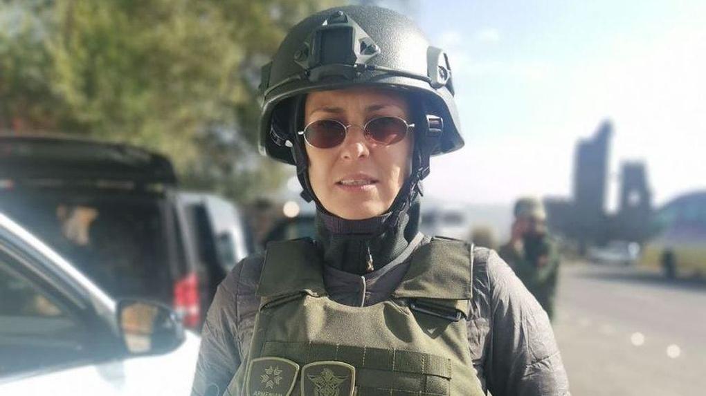 Юлия Чичерина попала под обстрел в Нагорном Карабахе