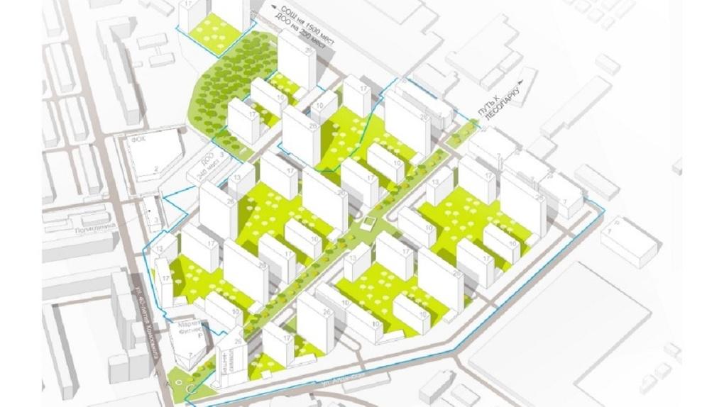 Завод ЖБИ застроят жильем. Первые рендеры микрорайона на 300 тысяч квадратных метров