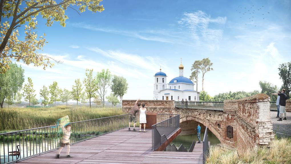 Историческое село в Башкирии превращают в туристический центр с пляжем, кофейней и скейт-парком. Рендеры