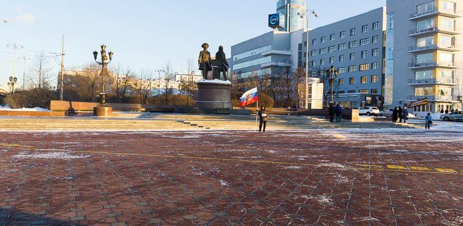 Екатеринбургскую акцию в поддержку Рамзана Кадырова проигнорировали даже полицейские