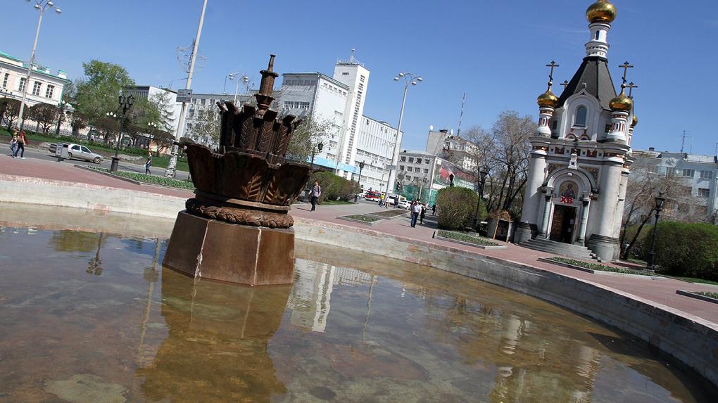 В Екатеринбурге включат фонтаны