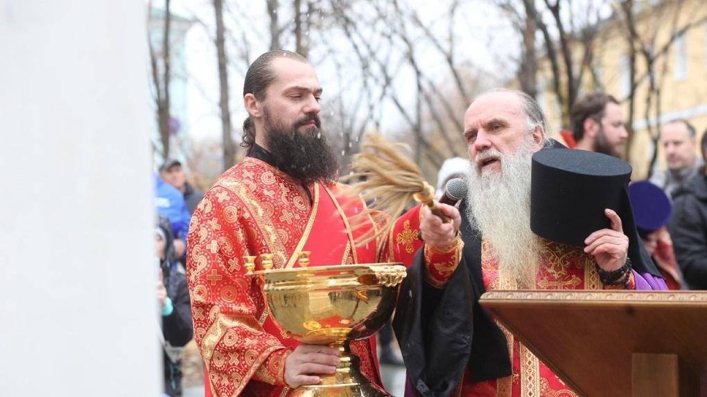 В Алапаевске состоялась установка креста на месте строительства храма святого князя Александра Невского