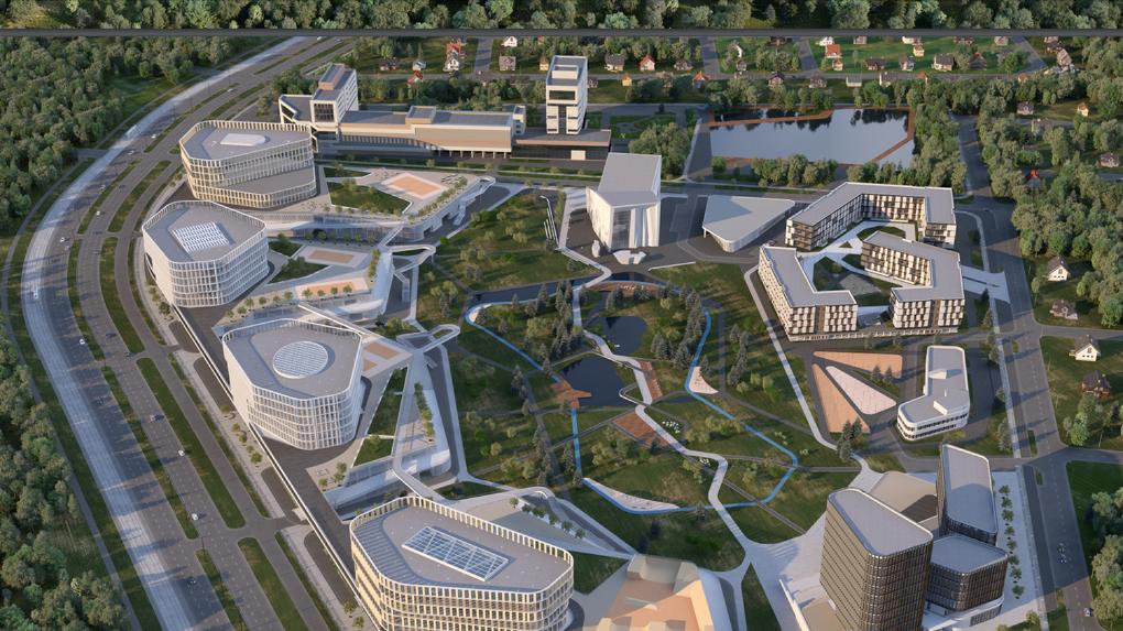 В Екатеринбурге выбрали концепцию застройки IT-деревни на Широкой Речке