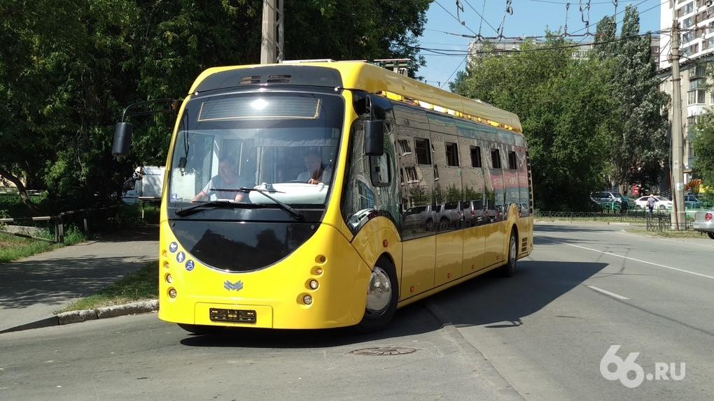 По Екатеринбургу ездит электробус, который пока негде заряжать. Фото с тест-драйва