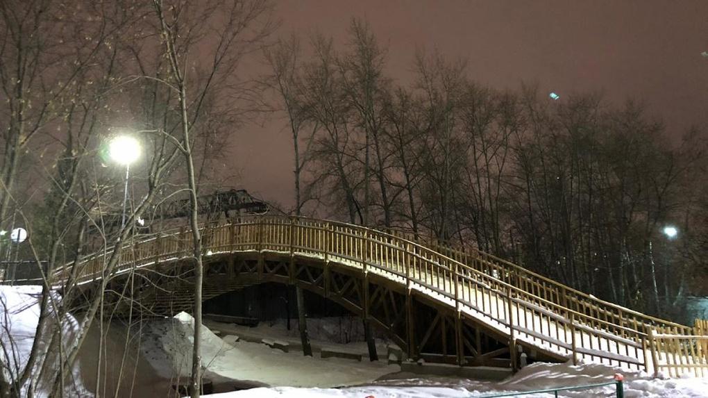 На «Калининце» открыли первую в городе освещенную лыжную трассу