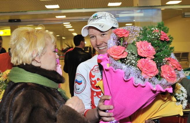 Екатеринбург встретил паралимпийцев-триумфаторов
