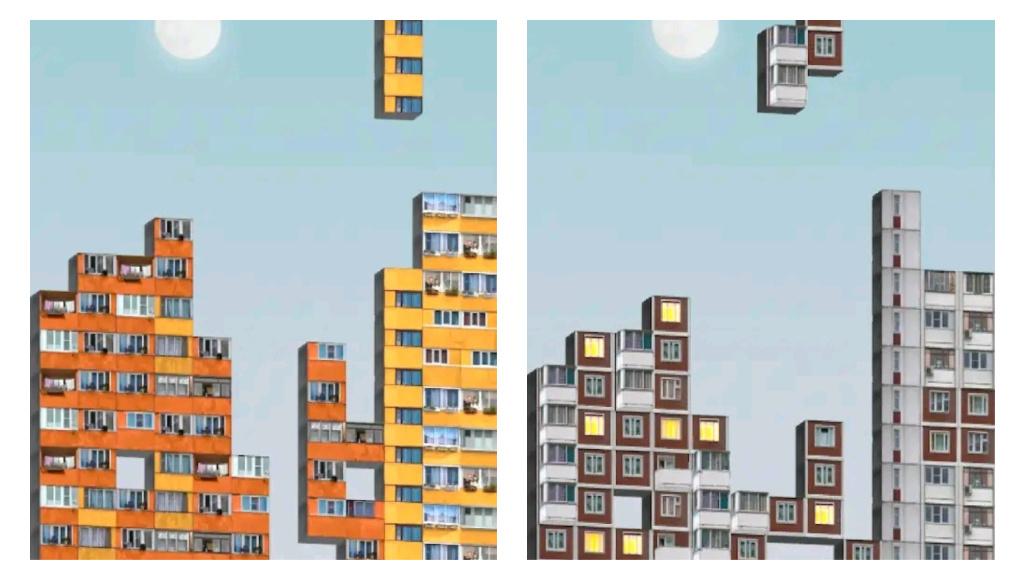 В России создали тетрис из типовых «панелек». В игре есть дома из Екатеринбурга