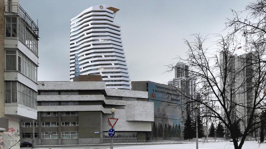 УГМК переделает недостроенный офисник под окнами облправительства в жилье. Эскизы проекта
