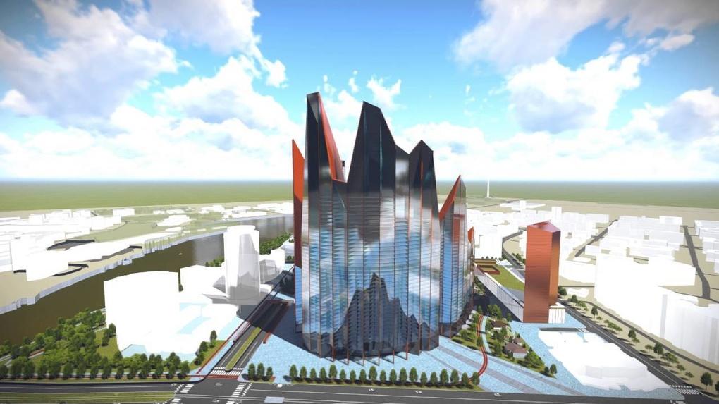 Парковка и сквер вместо небоскребов. УГМК красиво консервирует проект «Екатеринбург-Сити»