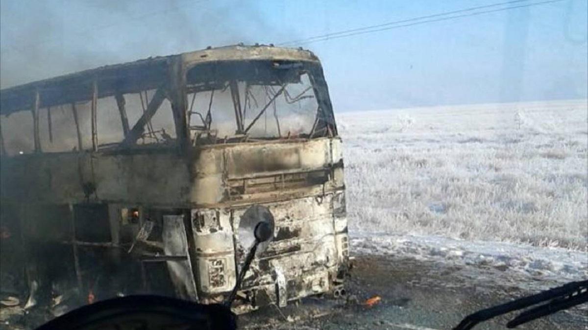 Усгоревшего вКазахстане автобуса небыло лицензии напассажирские транспортировки