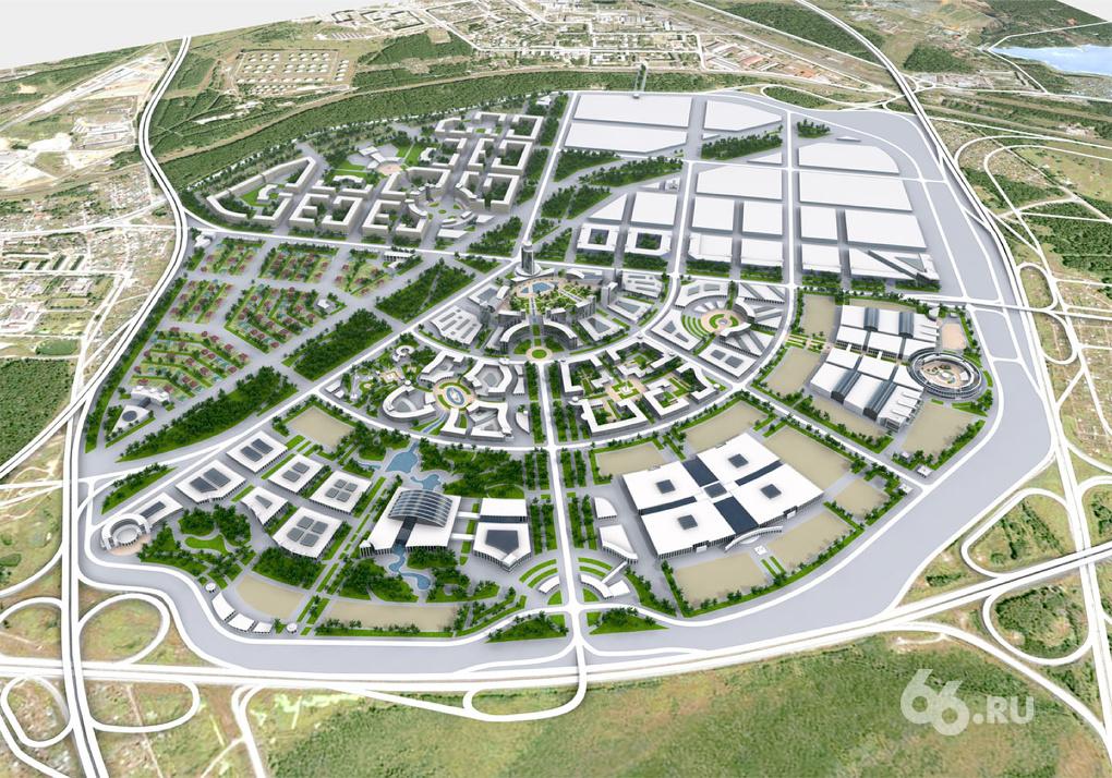 Около аэропорта «Кольцово» построят город-блин