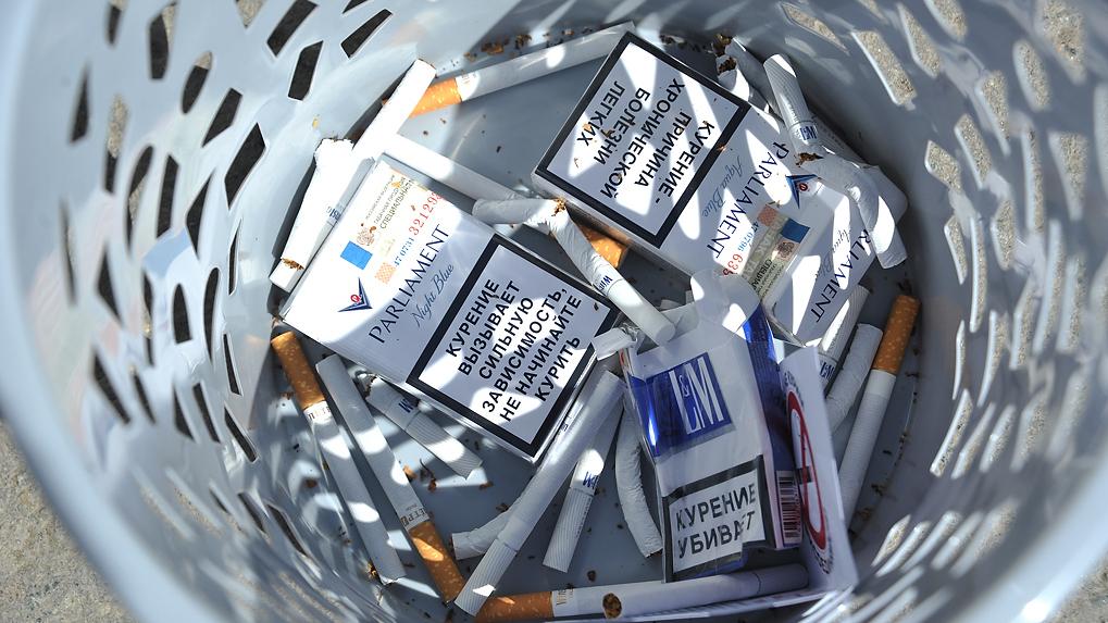 Доля контрафактных сигарет на прилавках России за год выросла в три раза