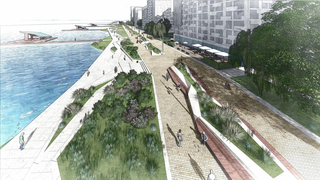 В Екатеринбурге разработают концепцию набережной Исети, хотя она давно существует. Рендеры