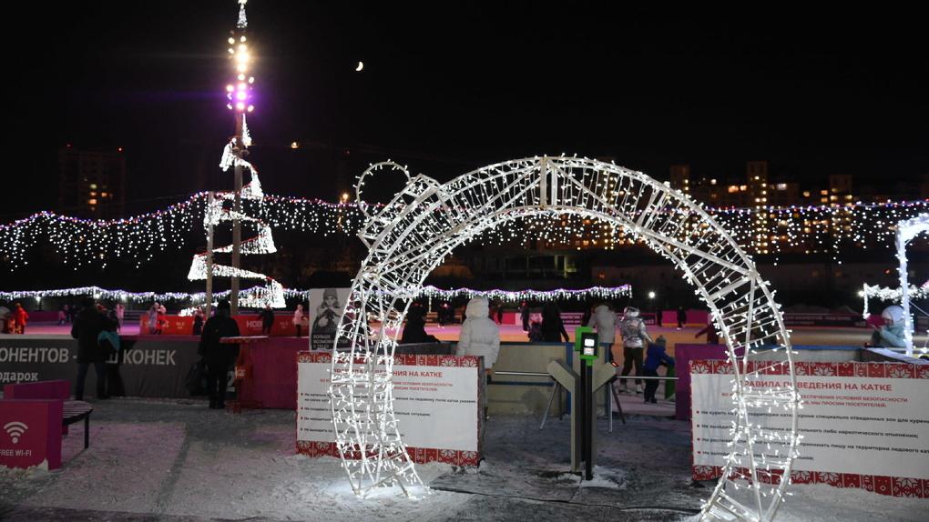 Где покататься на коньках и сколько это стоит: карта главных катков Екатеринбурга