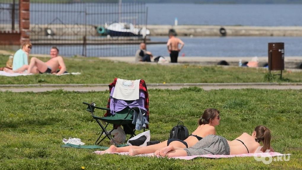 В Екатеринбург идет аномальная жара. Где купаться безопасно и без людей