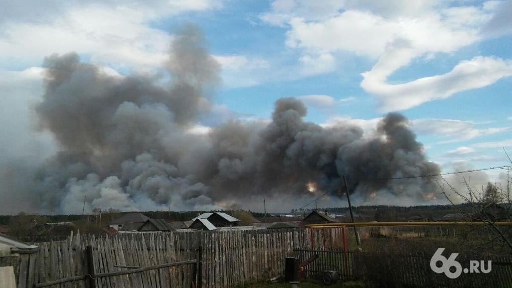 Огонь и дым приближаются к городу: в окрестностях Екатеринбурга вспыхнули сразу два верховых пожара