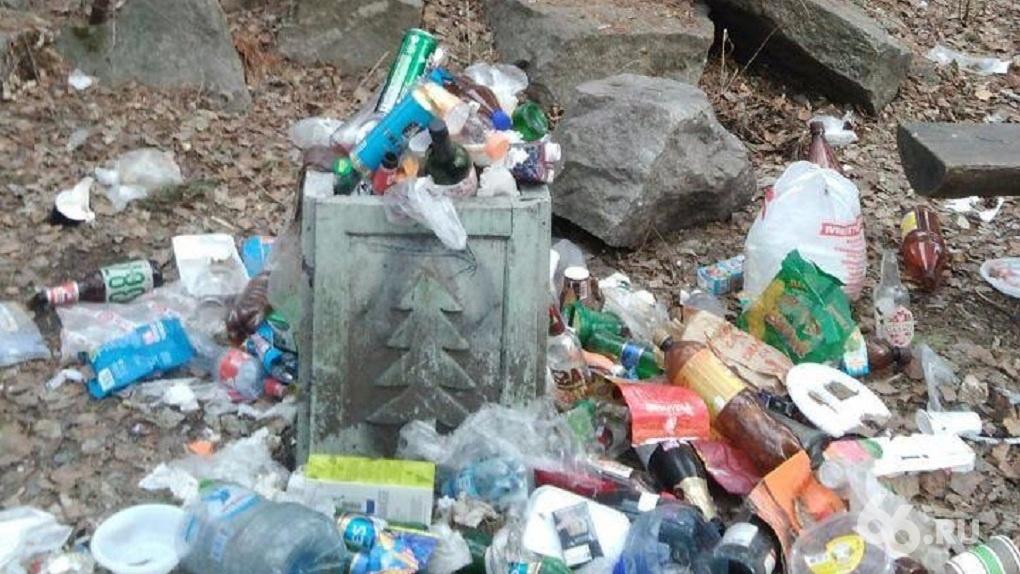 Работы хватит всем. Жителей Екатеринбурга зовут на уборку погрязшего в горах мусора Шарташского лесопарка