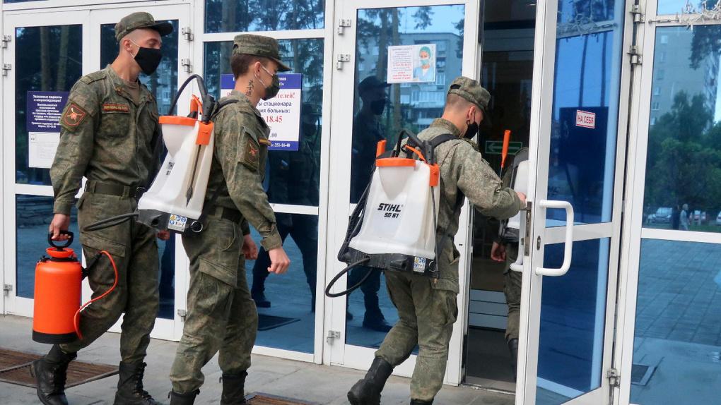 Военные продезинфицировали ОКБ № 1 после заражения 99 врачей и пациентов