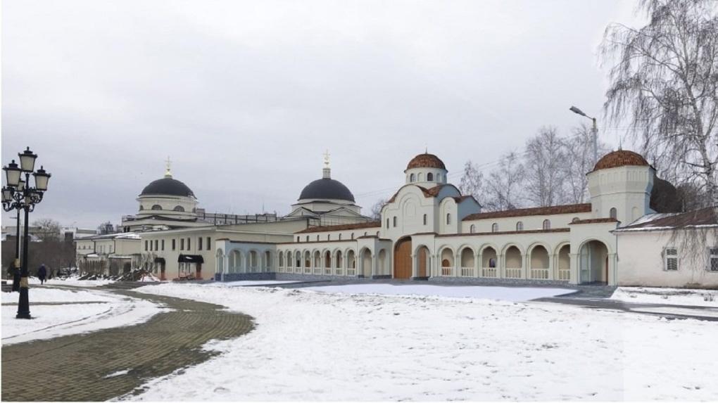 В сквере рядом с Ново-Тихвинским монастырем построят мемориальный комплекс