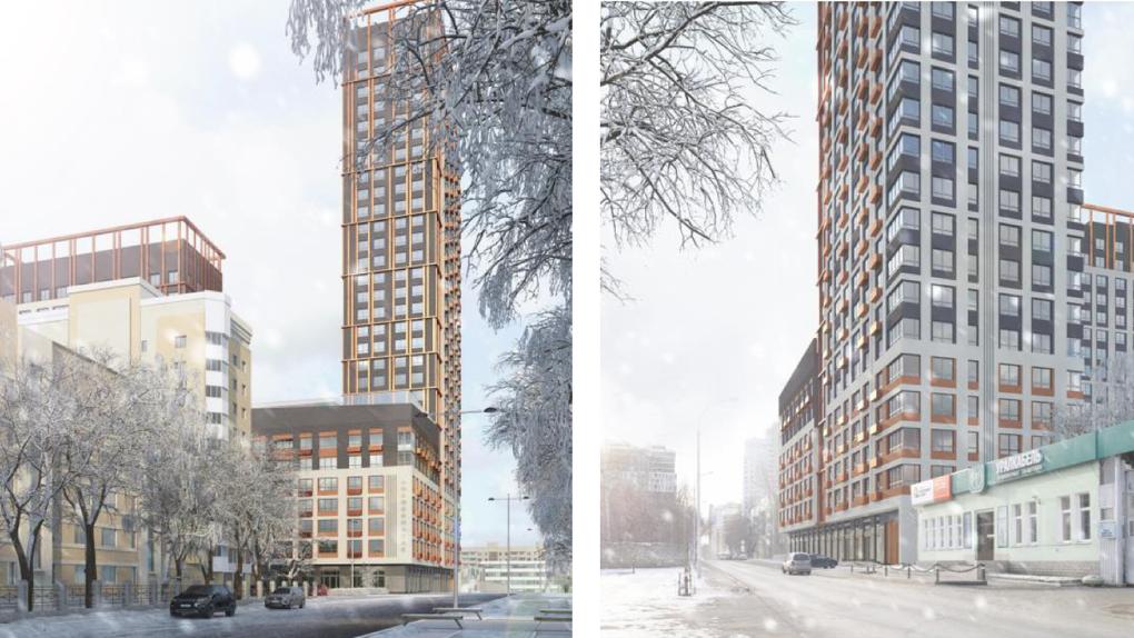 Что построят на месте снесенного конструктивистского здания на ВИЗе. Первые эскизы