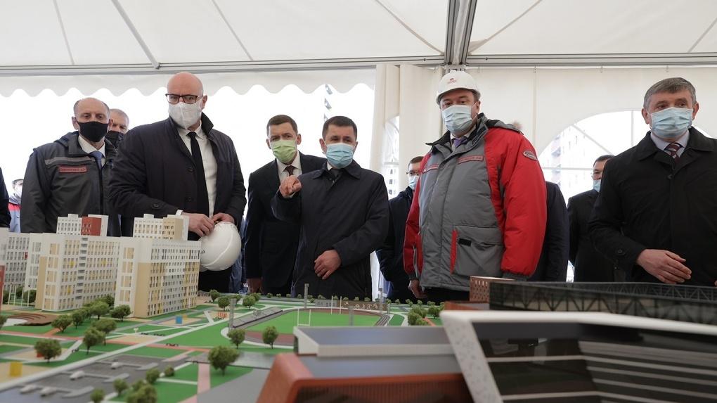 Вице-премьер правительства России Дмитрий Чернышенко осмотрел стройплощадку Деревни Универсиады