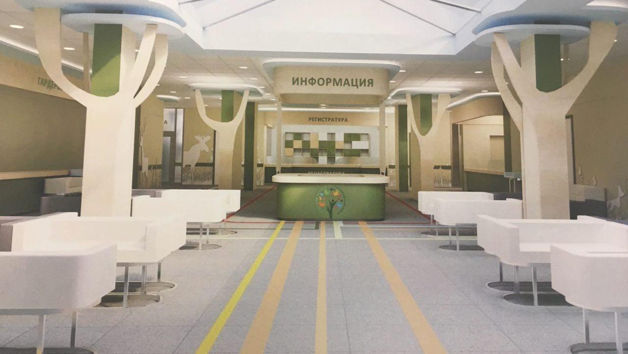 В областной детской больнице построят большую приемную с буфетом и игровой комнатой. И сделают парковку