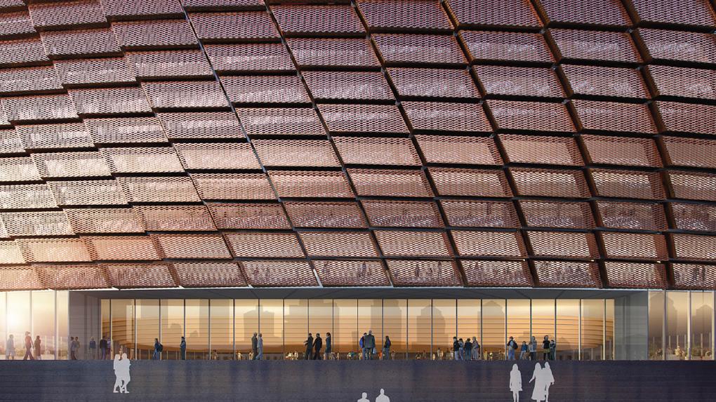 Как будет выглядеть ледовая арена на месте телебашни. УГМК показала новые проекты