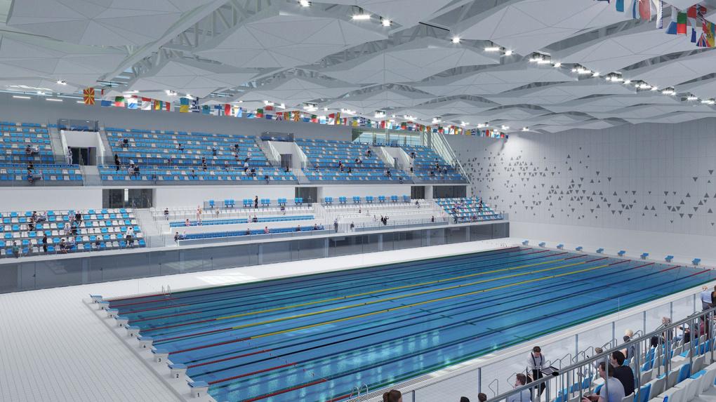 Каким будет Дворец водных видов спорта за 15 млрд, который строят в Деревне Универсиады. Рендеры