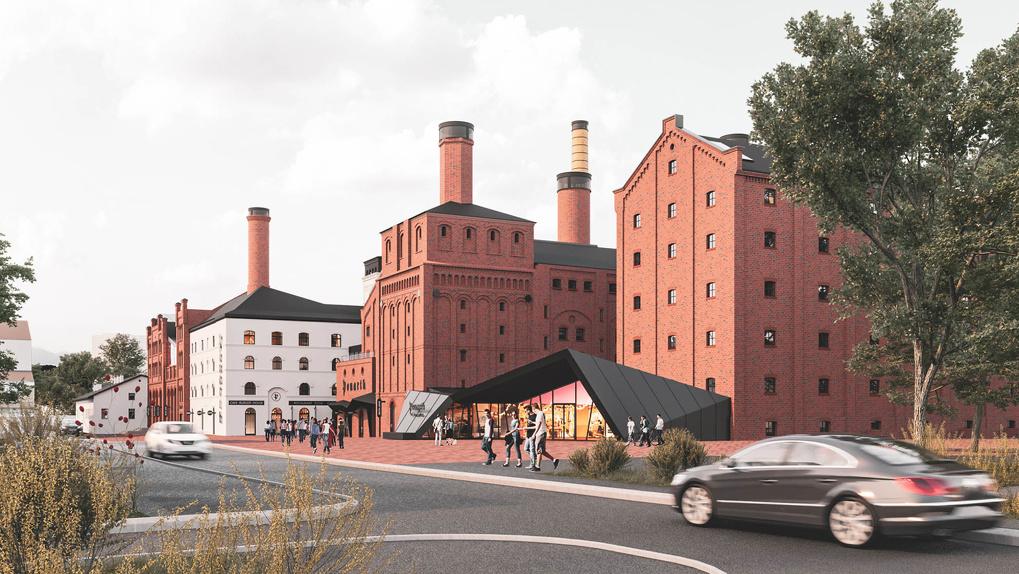 В Калининграде из старинного пивоваренного завода сделают гостиницу с арт-пространством и фреш-маркетом