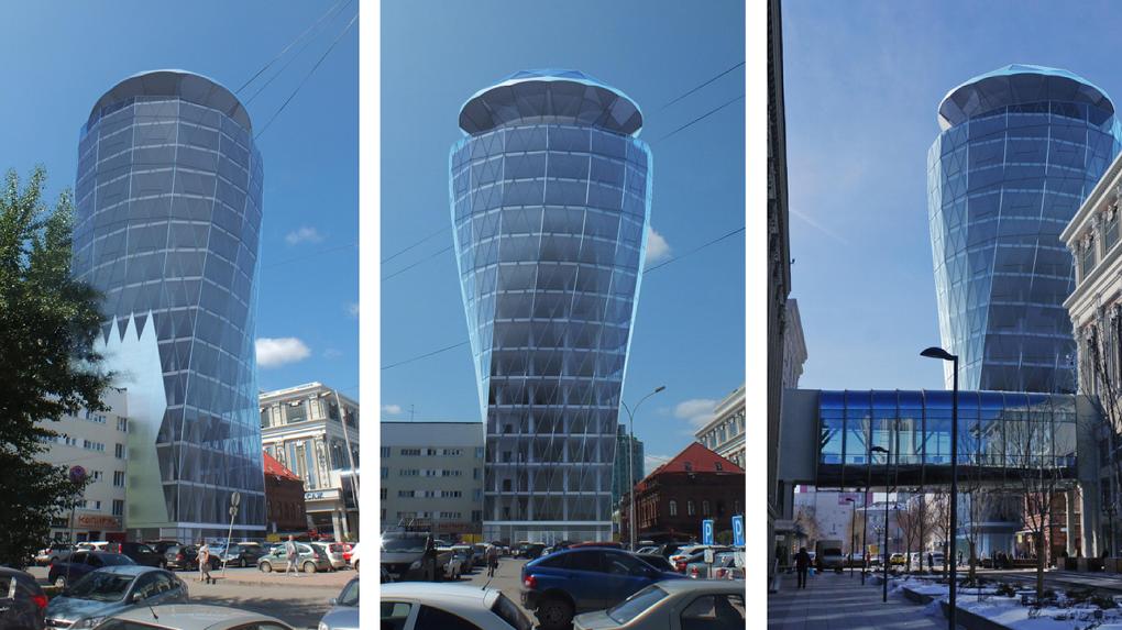 «Безвкусная утопия»: Градсовет не разрешил строить за мэрией башню с вращающимся бриллиантом на крыше