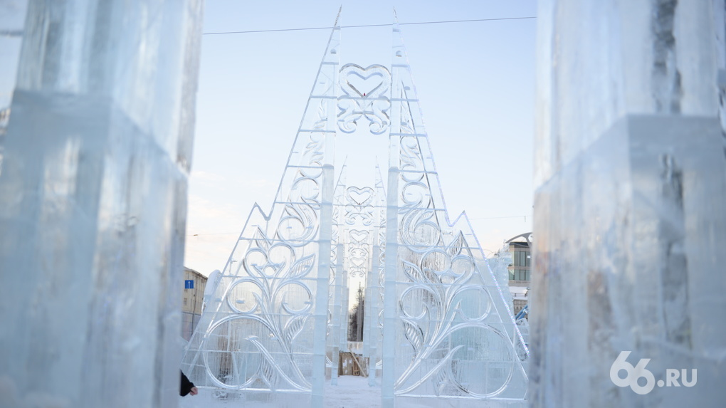 В Екатеринбурге побит температурный рекорд. Ледовый городок рушится, на улицах слякоть