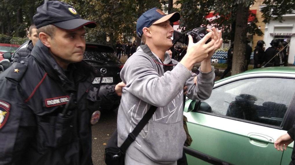МВД и свердловский омбудсмен сделали официальное заявление по задержанию журналистов на митинге