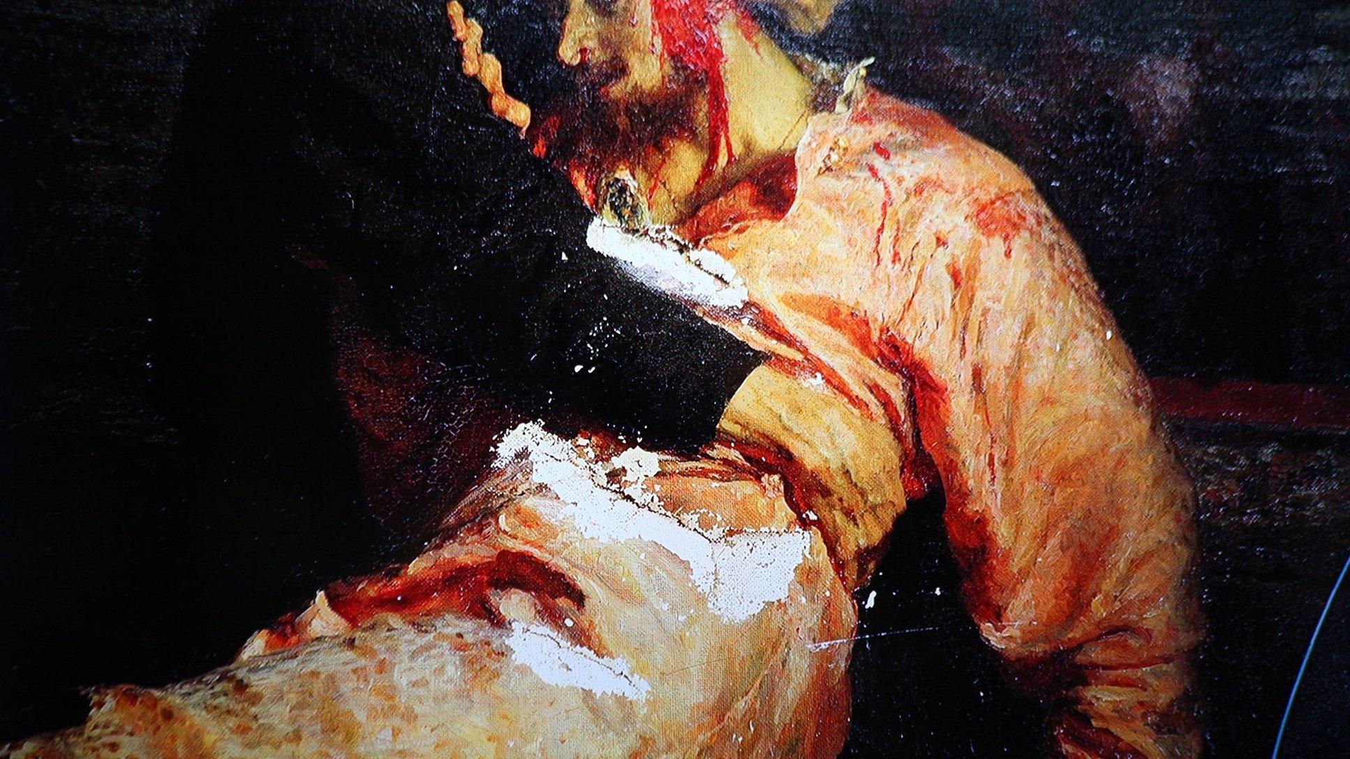 Картина «Иван Грозный и сын его Иван» будет выставляться в бронированном стеклянном кейсе. Фото