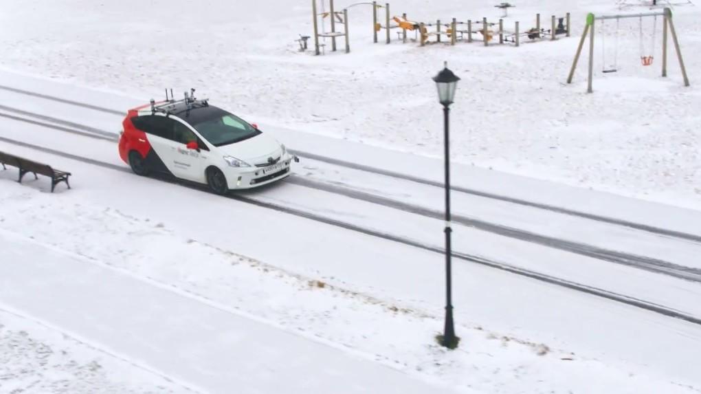 «Яндекс» продемонстрировал поездку своего беспилотного автомобиля позаснеженной столицеРФ