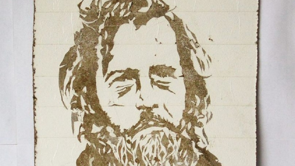 Художник Слава ПТРК выставил на продажу картину, нарисованную уральской грязью. Стартовая цена — 500 евро