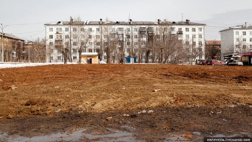 Как выглядит площадка разрушенного кинотеатра «Темп». Очень грустное фото