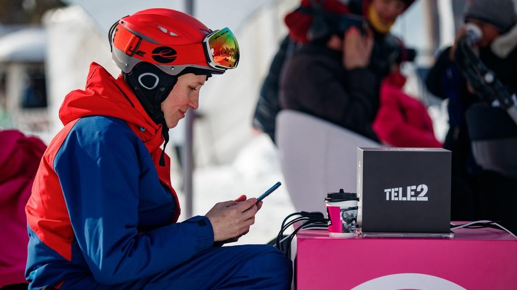 Уктус стал самым популярным горнолыжным курортом у свердловских абонентов Tele2 в 2020 году