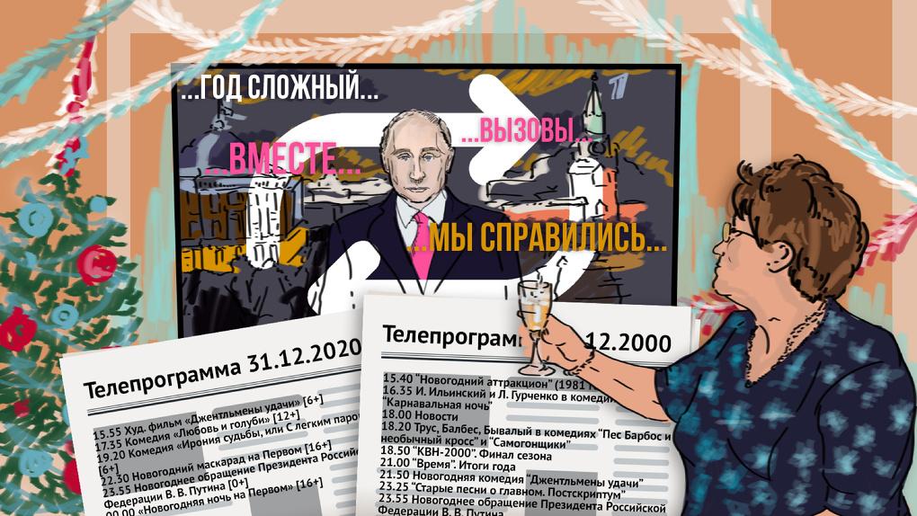 День сурка на российском ТВ. Как за десятилетие изменились новогодние передачи и речь президента