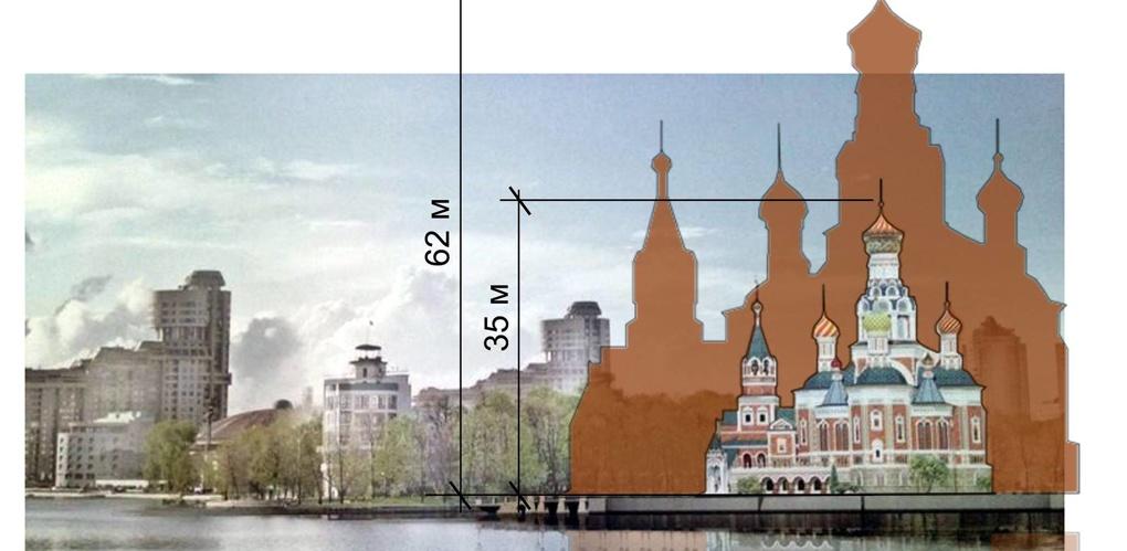 Автор проекта храма на воде исказил реальность: масштабы будущего здания в два раза больше