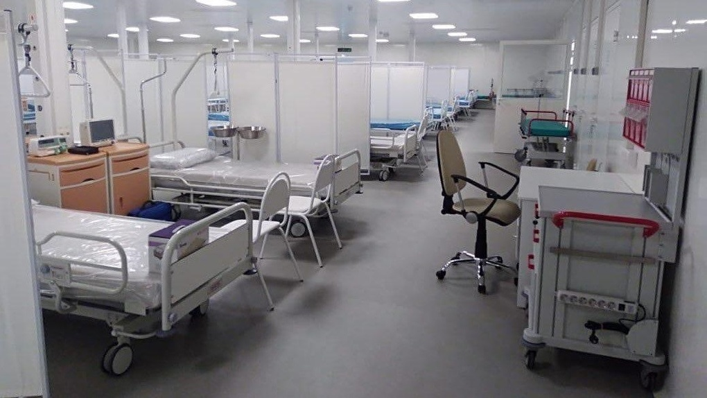 Мобильный госпиталь в Экспо-центре, пустовавший два месяца, начнет принимать пациентов с коронавирусом