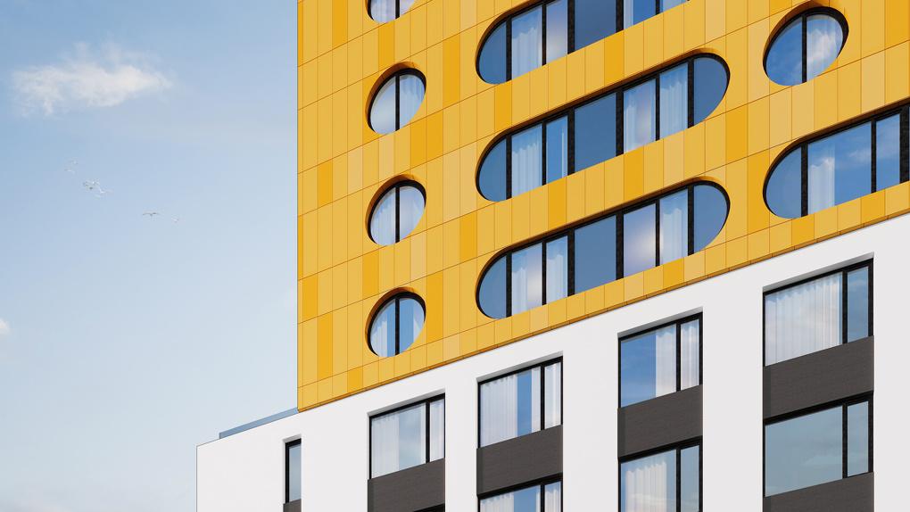 «Один из самых новаторских домов». На ВИЗе строят высотку с круглыми окнами и цветным фасадом