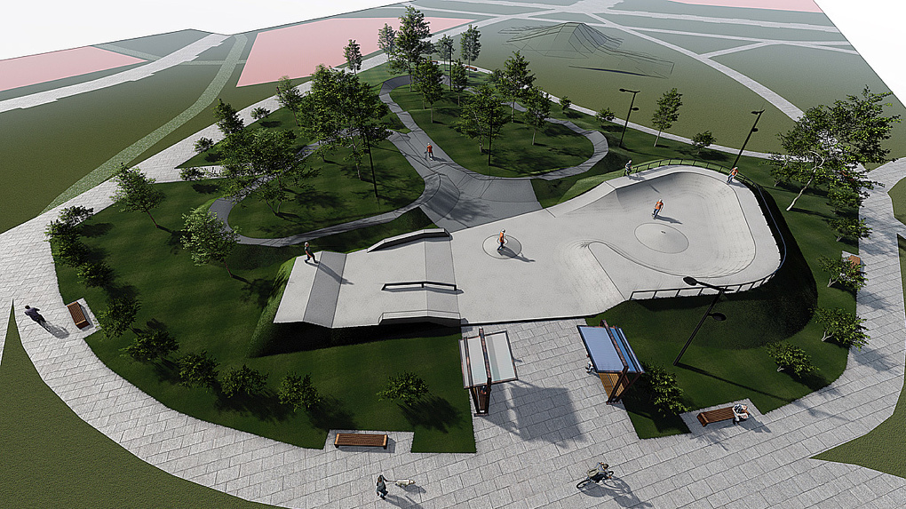 В Красноярске строят первый бетонный скейт-парк: большой и бесшумный