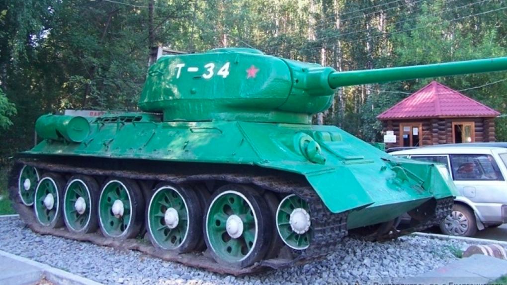 Танк Т-34 вернут ко входу в парк Победы