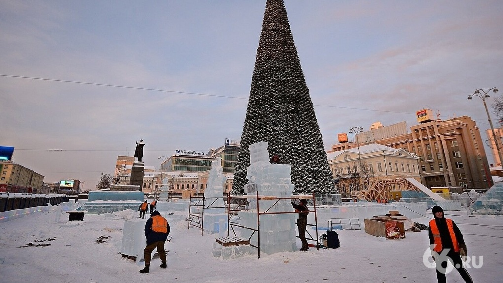 Стало известно, как будет выглядеть ледовый городок в этом году. Эскиз