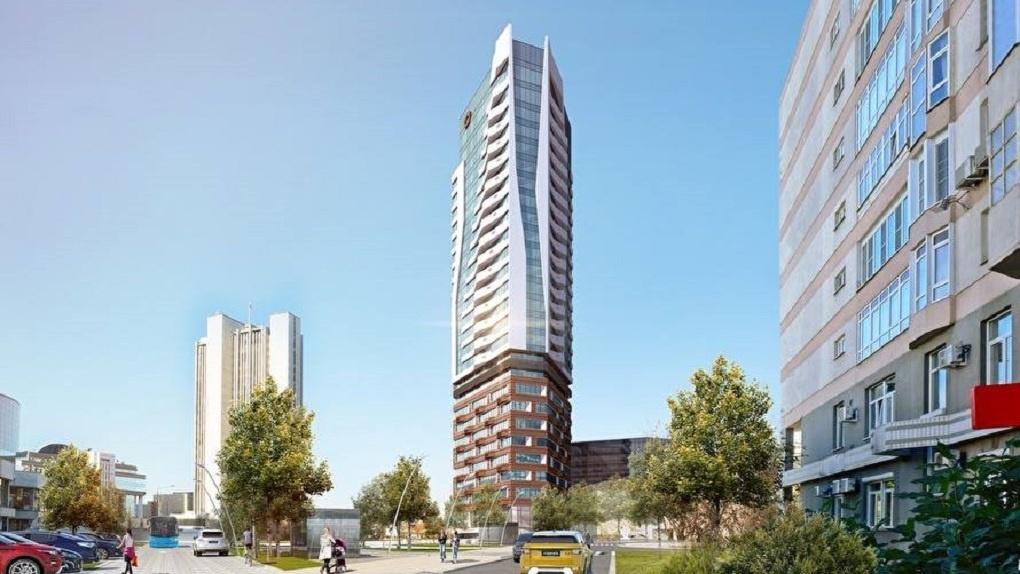 Вместо недостроя возле правительства области построят 30-этажный офисник с апартаментами. Новые рендеры