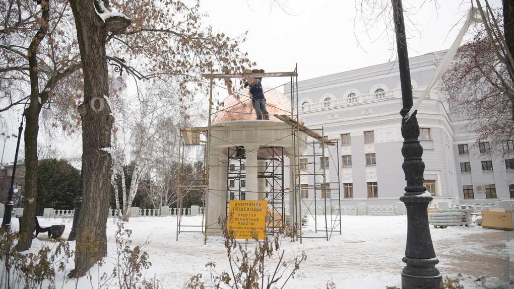 Как похорошел сквер за Оперным при мэре Высокинском! Фоторепортаж в день официального окончания работ