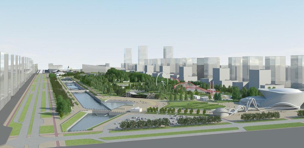 В главном парке Академического построят кремлевскую стену, американские горки и ремесленные мастерские