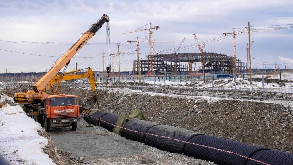 Синара-Девелопмент начала строительство водоотводного канала в Деревне Универсиады в Екатеринбурге