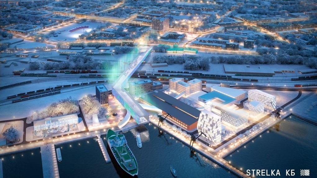В Мурманске на месте завода построят конгресс-холл с парком, музеем Арктики и отелем. Рендеры